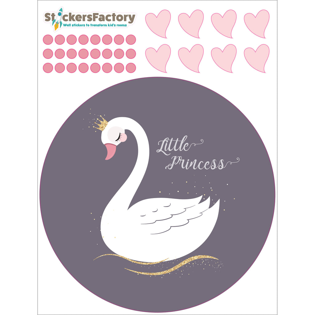 Swan Little Princess Wall Decals