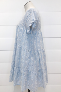 Dreamy Eyelet Babydoll Dress