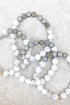 Custom Howlite & Grey Beaded Bracelet