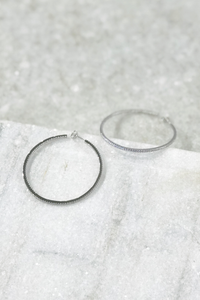 50mm In and Out Pave Hoops