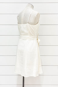 Lovely Linen Wrap Dress