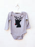 SH Rudolph Reindeer Grey Long Sleeve Bodysuit