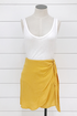 Canary Mini Wrap Skirt