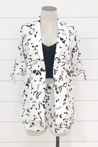 Animal Daze Short Sleeve Blazer