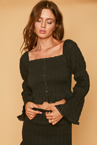 Aria Long Sleeve Crop Top