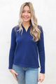 Lavallette Beach Badge 1/4 Zip Sweater