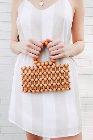 Mini Wood Bead Purse