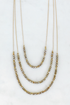 Crystal 3 Strand Necklace