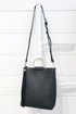 Black Mini Tote W/ Ring Handle