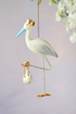 Blue Royal Stork Ornament