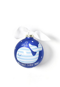 SH My First Christmas Blue Whale Ornament