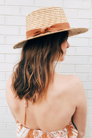Wheat Straw Boater Hat