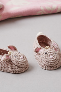 Bunny Crochet Baby Booties - House of Lucky