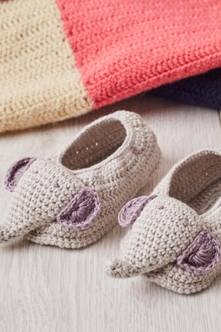 Elephant Crochet Booties