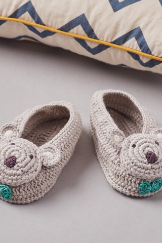 Koala Crochet Baby Booties - House of Lucky