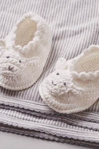 Lamb Crochet Booties  One Size - House of Lucky