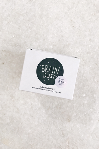 Moon Juice Brain Dust Satchet Box