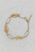 Brushed Gold Puka & Chain Bracelet
