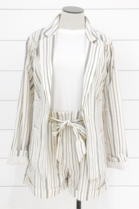 Business or Pleasure Striped Blazer