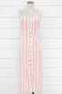 Candy Stripes Midi Dress