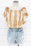 Castaway Off The Shoulder Tunic - House of Lucky