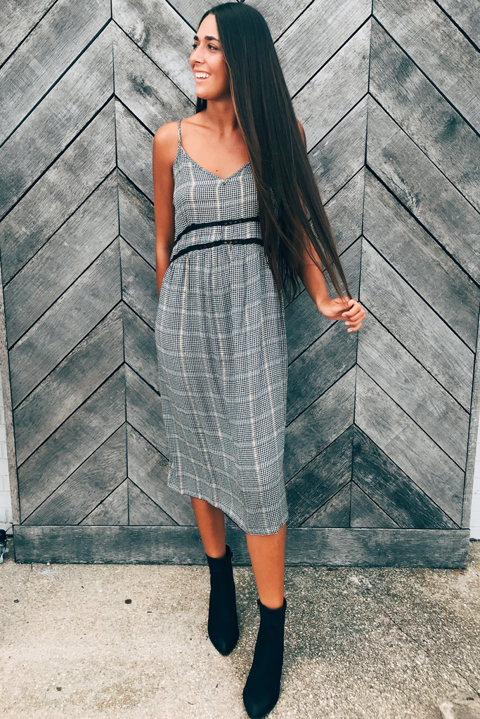 Clueless Plaid Midi Dress