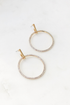 Clear Pave Circle  Earrings
