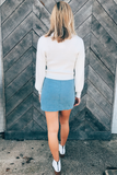 Cord Double Pocket Skirt