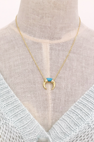 Crescent Moon Shimmer Necklace