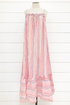 Crinkle Yarn Boho Beach Dress