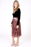 Life Of The Party Velvet Skirt