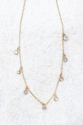 CZ Dangle Necklace
