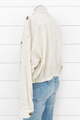 Drop Shoulder Linen Jacket