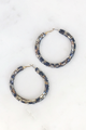 Baguette Crystal Hoops