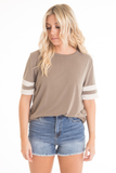 Emmy Striped Sleeve Tee