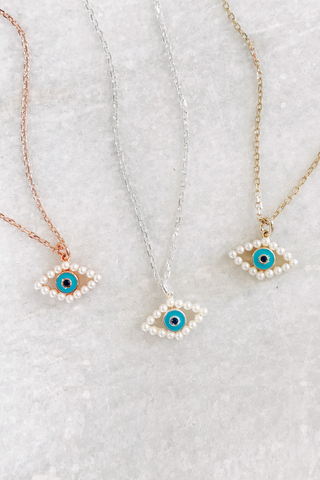 Swarovski Pearl Eveil Eye Necklace