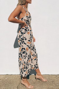 Fall Petals Crop Jumpsuit