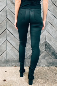 Olivia High Rise Faux Leather Pants