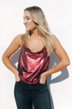 Fine Wine Sequin Top