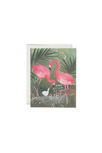 Flamingo Baby Card