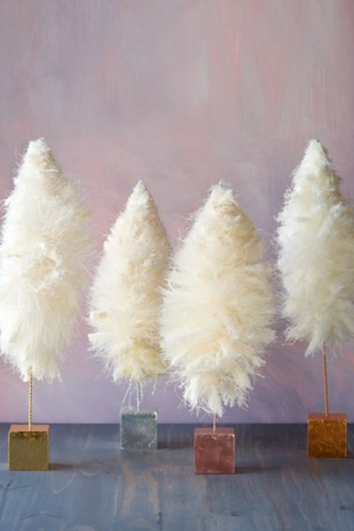Cream Fluffy Tree