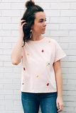 Fruits Embroidered Tee