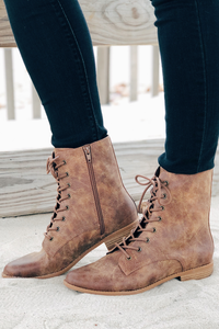 Girl Power Lace Up Booties
