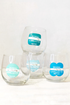 SH Beach Badge Wine Glasses