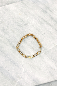 Chain Link And Ball Bracelet