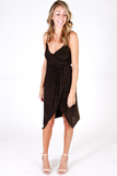 Holiday Wrap Tank Dress - House of Lucky