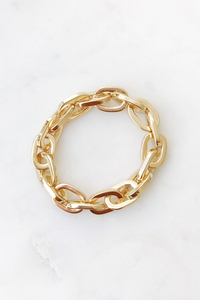 Gold Gucci Link Stretch Bracelet