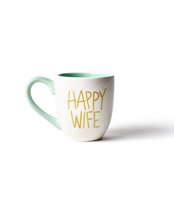 SH Happy Wife Mug White