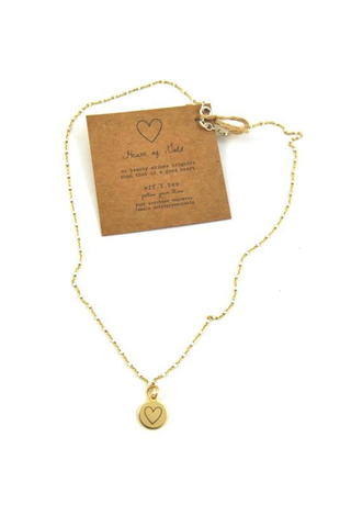 Heart of Gold Charm Necklace - House of Lucky