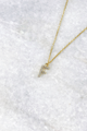 Delicate CZ Initial Necklace